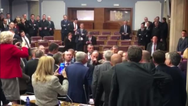 tension erupts after montenegro's parliament adopted the disputed law on freedom of confession on december 27, 2019 in podgorica. a group of... - confession law stock videos & royalty-free footage