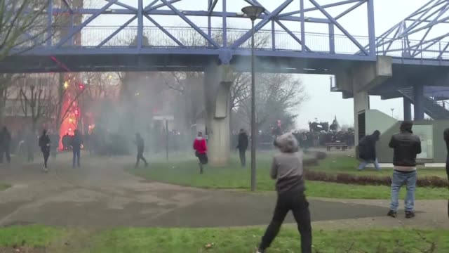 Tensions between police and protesters escalates as demonstrators gather in the Paris suburb of Bobigny after a police investigation concluded that...