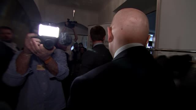 uk/us tensions over sajid javid's plans to tax major tech companies davos switzerland sajid javid mp along ignoring reporters questions various shots... - キャシー・ニューマン点の映像素材/bロール