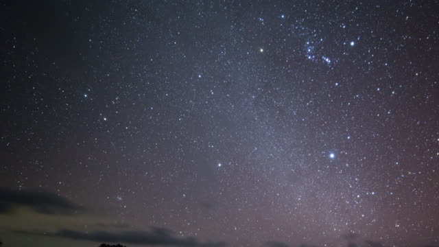 Tent glows under a night sky full of stars