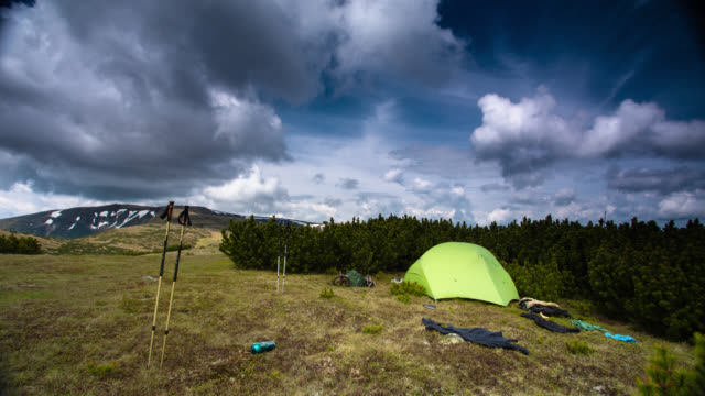 TIME LAPSE: Tent in the Mountains