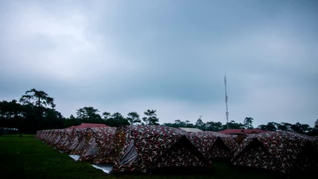 tenda. - area selvatica video stock e b–roll