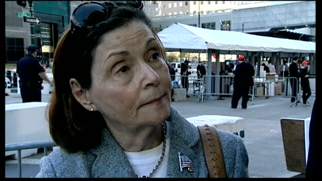 vidéos et rushes de memorial services held barbara kirwin interview sot can't move on don't have any remains cutawayclose shot of people touching memorial stone paul... - respect