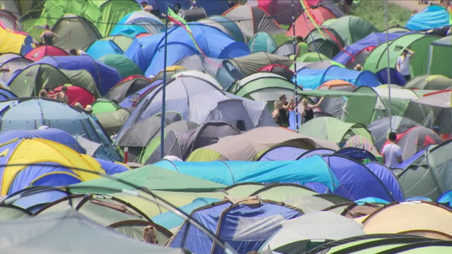 tents at a music festival - music festival stock videos & royalty-free footage