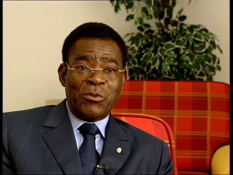 teodoro nguema obiang mbasogo interview sot i am one who arranges things in this country because in africa there are lot of problems with corruption... - dictator stock videos & royalty-free footage