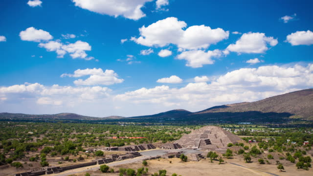 time lapse: teotihuacan, mexico - aztec civilization stock videos and b-roll footage