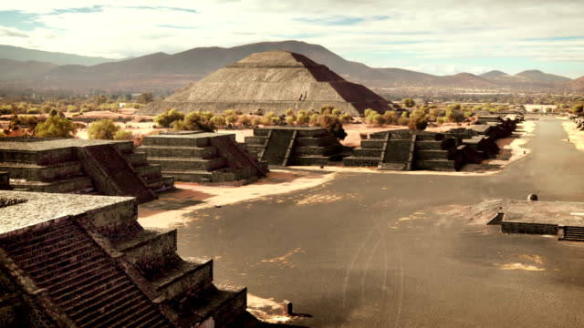 teotihuacan pyramids, mexico - aztec civilization stock videos and b-roll footage