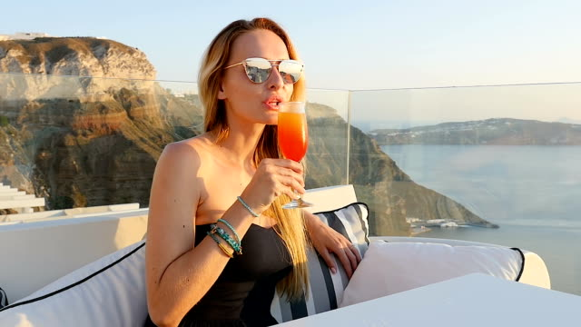 tequila sunrise & santorini - greece stock videos & royalty-free footage