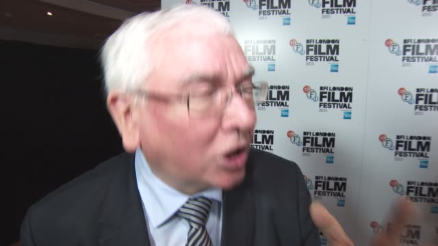 INTERVIEW Terence Davies on Agyness Deyn and his upcoming films at 'Sunset Song' Gala BFI London Film Festival at Vue Leicester Square on October 15...