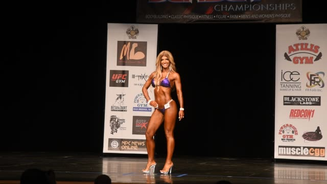 teresa giudice competes in the bikini division of the npc south jersey bodybuilding championships on june 9 2018 in medford new jersey - body building stock videos & royalty-free footage