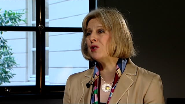 Teresa May proposes minimum price per unit of alcohol for England and Wales Halifax INT Theresa May MP interview SOT Cheap alcohol means that people...
