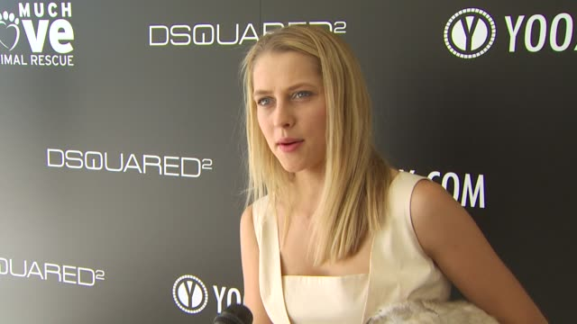 Teresa Palmer on being a part of the afternoon what she thinks of DSquared2's new canine couture line her dog how she named her dog her daily routine...
