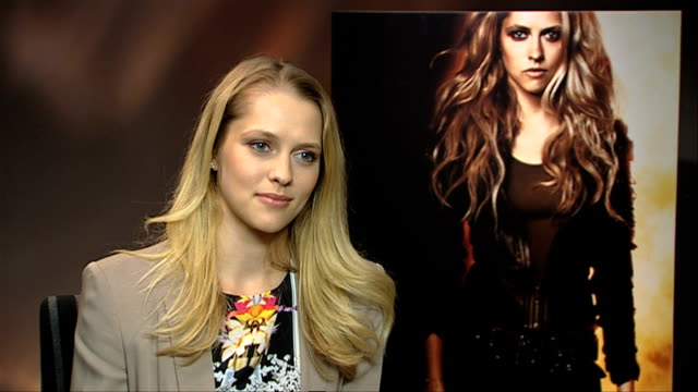teresa palmer the suspense of which number she was and where was 'number 5' at the i am number 4 interviews at london england - number 5 stock videos & royalty-free footage