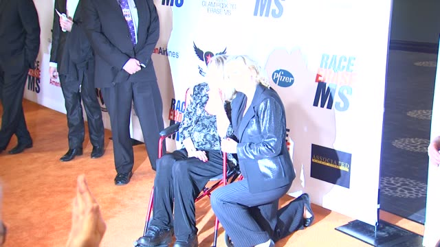 teri garr cybill shepherd at 19th annual race to erase ms glam rock to erase ms on 5/18/12 in los angeles ca - race to erase ms stock videos and b-roll footage