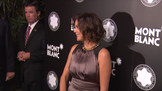 stockvideo's en b-roll-footage met teri hatcher at montblanc honors quincy jones at the montblanc de la culture arts patronage awards ceremony on 10/02/12 in los angeles california - arts culture and entertainment