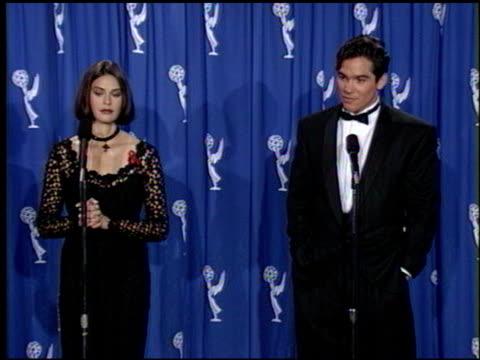 Teri Hatcher at the 1993 Emmy Awards entrances and Press Room at the Pasadena Civic Auditorium in Pasadena California on September 19 1993