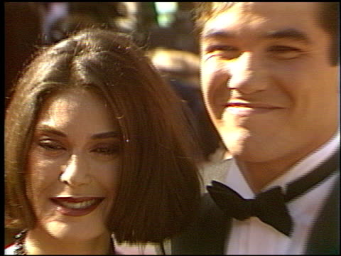 teri hatcher at the 1993 emmy awards entrances at the pasadena civic auditorium in pasadena, california on september 19, 1993. - ceremony stock videos & royalty-free footage