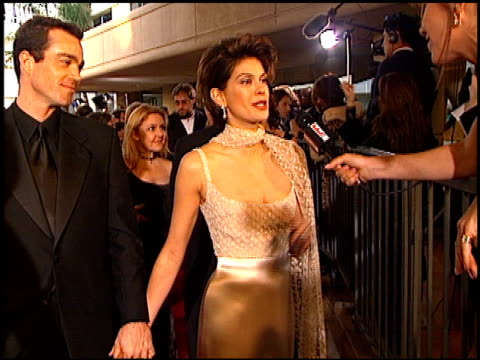 Teri Hatcher at the 1997 Golden Globe Awards at the Beverly Hilton in Beverly Hills California on January 19 1997