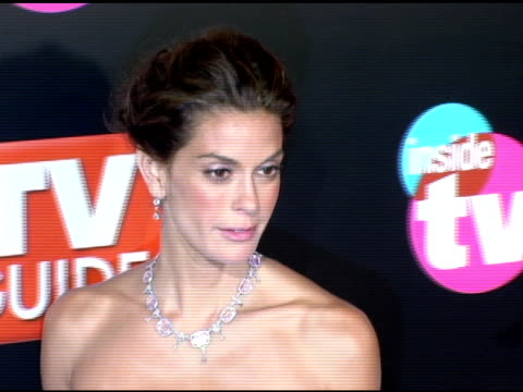 stockvideo's en b-roll-footage met teri hatcher at the 2005 tv guide and inside tv emmy awards after party at the hollywood roosevelt hotel in hollywood california on september 19 2005 - 2005