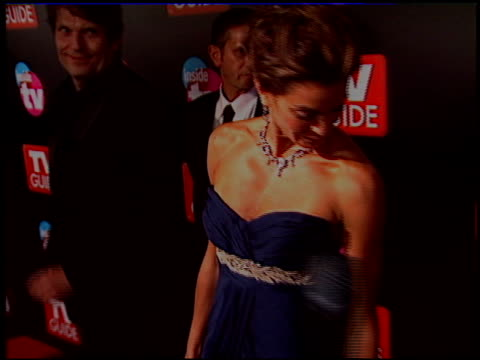 teri hatcher at the 2005 tv guide emmy awards party at the hollywood roosevelt hotel in hollywood california on september 18 2005 - teri hatcher stock-videos und b-roll-filmmaterial