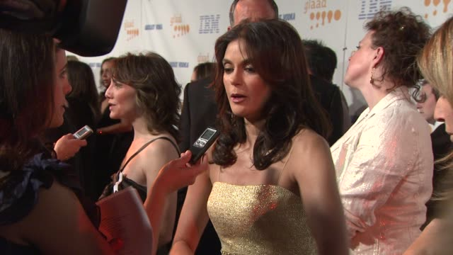 teri hatcher at the 20th annual glaad media awards at los angeles ca. - teri hatcher stock videos & royalty-free footage