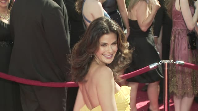 teri hatcher at the 60th primetime emmy awards at los angeles ca. - teri hatcher stock videos & royalty-free footage