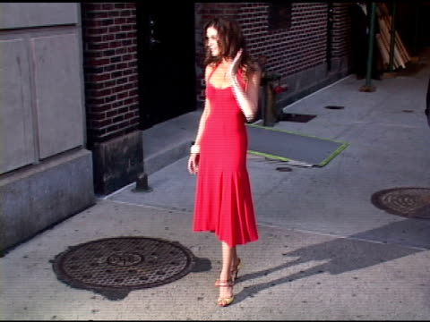 Teri Hatcher at the Appearance By Paris Hilton and Teri Hatcher at The Late Show with David Letterman on April 28 2005