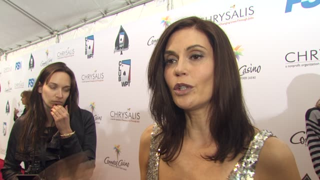 Teri Hatcher on being a part of the night and supporting Chrysalis the last time someone gave her a second chance her strategy at the 8th Annual WPT...