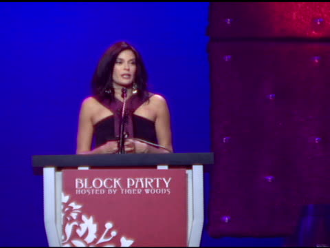 Teri Hatcher on Tiger Woods on him giving her and her father a golf lesson and on what he has accomplished and continues to accomplish at the 3rd...