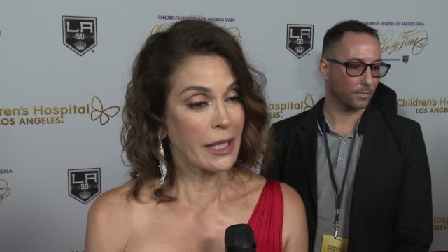 INTERVIEW Teri Hatcher on volunteering at CHLA at 2016 Children's Hospital Los Angeles 'Once Upon a Time' Gala in Los Angeles CA