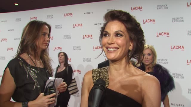 Teri Hatcher on what brings her out tonight why its important to support the arts at the LACMA Presents 'The Unmasking' at Los Angeles CA