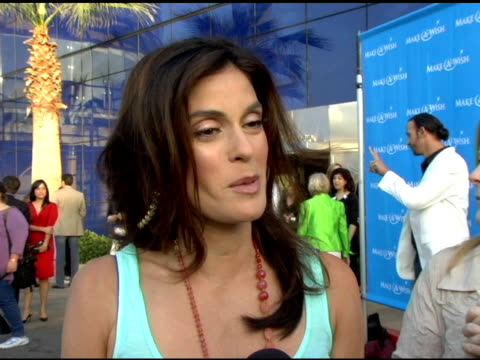 Teri Hatcher on why the event is important to her the book she's auctioning off at the 'Uncork A Wish' at The MakeAWish Foundation 13th Annual wine...