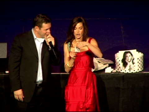 Teri Hatcher shares a personal story at the Comedy For A Cure 2006 Benefiting the TS Alliance and Clothes Off Our Backs at the Music Box Theater in...