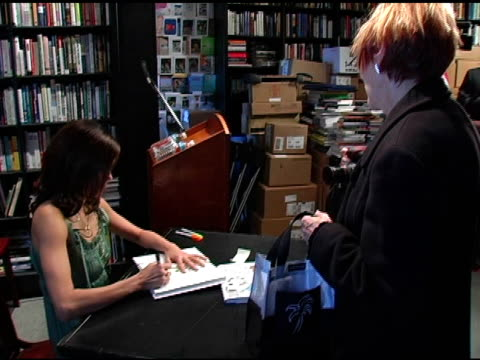 teri hatcher signing books at the book signing of 'burnt toast and other philosophies of life' by teri hatcher at book soup in beverly hills,... - teri hatcher stock videos & royalty-free footage