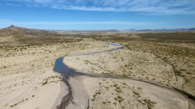 terlingua creek, one of the tributaries of the rio grande flowing through big bend national park, texas. - basin and range province stock videos and b-roll footage