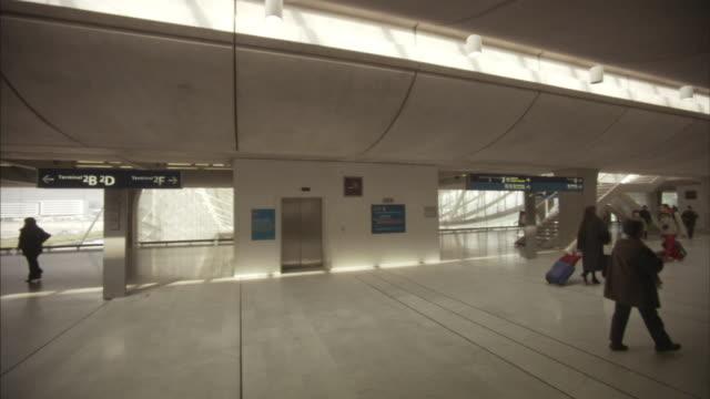 ws terminal of in paris-charles de gaulle airport, paris, france - charles de gaulle stock videos and b-roll footage