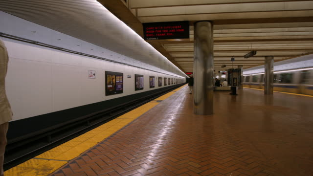 bart terminal, time lapse - artbeats stock videos & royalty-free footage