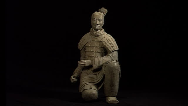terra cotta warrior - traditional armor stock videos and b-roll footage