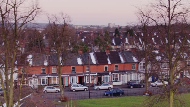 terraced houses in watford - winter stock videos & royalty-free footage