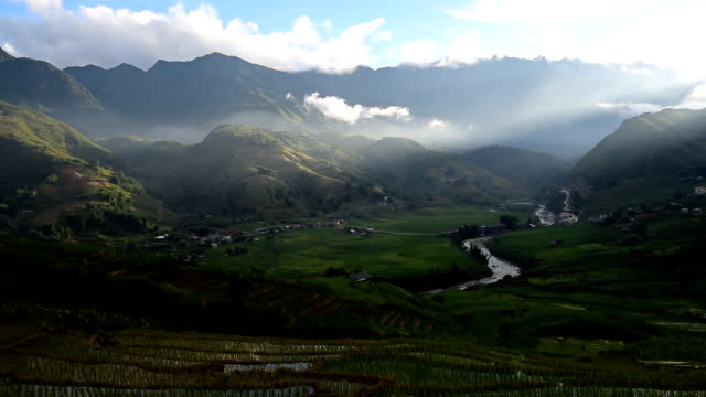 テラスの稲田サパ,ベトナム