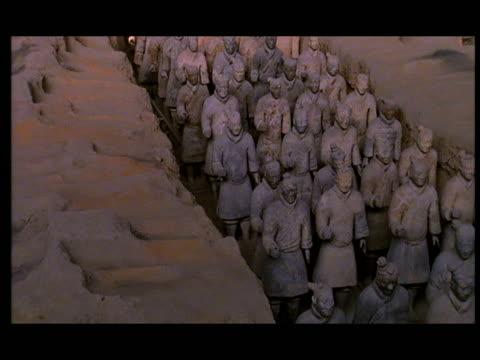ms, ha, pan, terracotta army, xi'an, shaanxi province, china - 紀元前3世紀点の映像素材/bロール