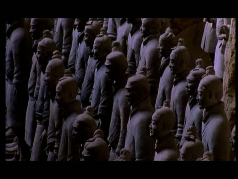 ms, cs, terracotta army, xi'an, shaanxi province, china - 紀元前3世紀点の映像素材/bロール