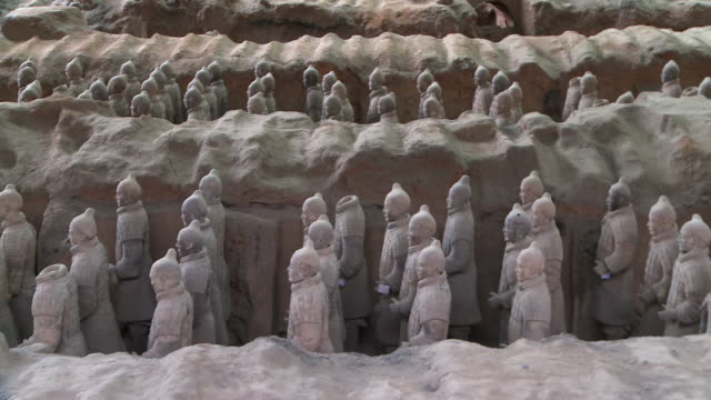 terracotta warriors in xi'an - emperor stock videos and b-roll footage