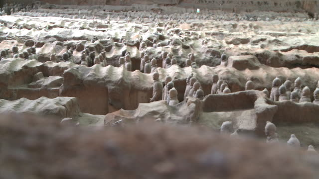 terracotta warriors in xi'an - mausoleum stock videos and b-roll footage