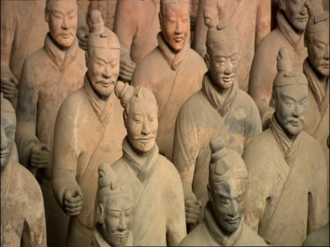 ms terracotta warriors, museum of qin, xian, china - clay stock videos & royalty-free footage