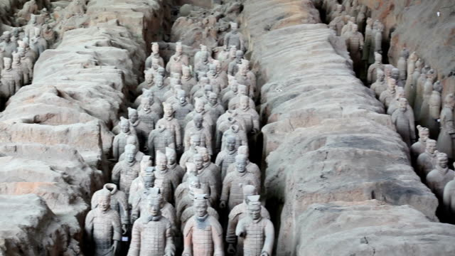 terracotta warriors - china east asia stock videos & royalty-free footage