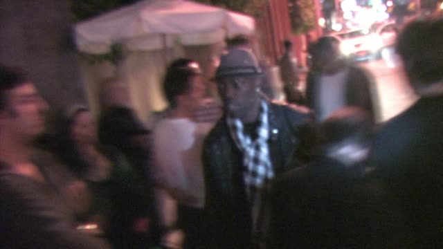 terrell owens at nobu in west hollywood at the celebrity sightings in los angeles at los angeles ca - nobu matsuhisa stock videos & royalty-free footage