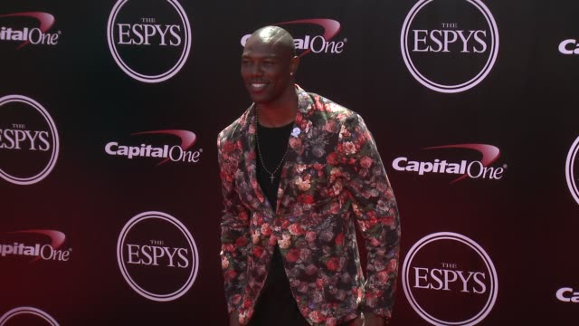 terrell owens at the 2016 espy awards at microsoft theater on july 13 2016 in los angeles california - microsoft theater los angeles stock videos and b-roll footage