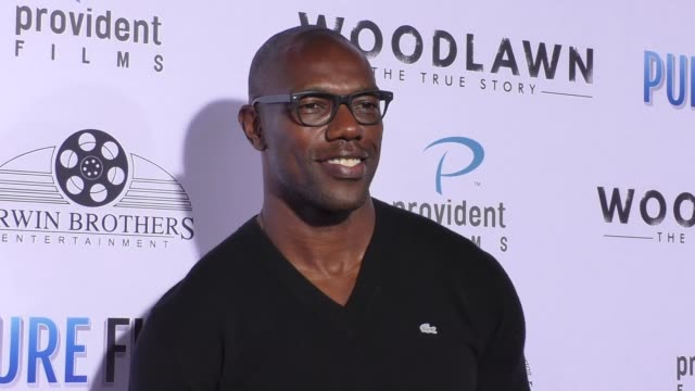 Terrell Owens at the Woodlawn Premiere at Bruin Theatre on October 05 2015 in Los Angeles California