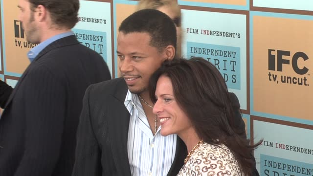 terrence howard and cathy schulman producer and nominee best first feature for �crash� at the the 21st annual ifp independent spirit awards in santa... - ifp independent spirit awards stock videos and b-roll footage